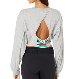 Free People Women's Backstage Solid Long Sleeve Active Top