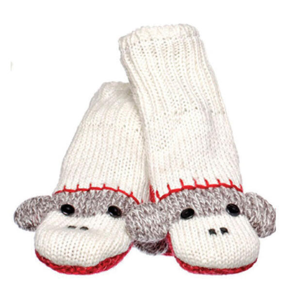 Knitwits Cute Sock Monkey Mittens