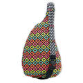 Kavu Women's Rope Bag Backpack Neon Montage