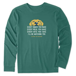 Life Is Good Men's I'll Be Watching You Long Sleeve Shirt