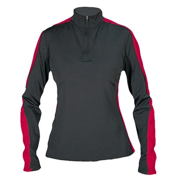 Hot Chillys Women's Me Xt Salsa Panel-T Zip Baselayer Top