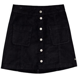 Roxy Women's Warning Sign Button Corduroy Skirt