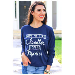ATX Mafia Women's Chandler Loves Monica Longsleeve Tee Shirt