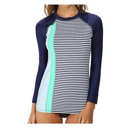 Splendid Jr. Girl's Blues Too Longsleeve Surf Shirt