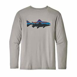 Patagonia Men's Graphic Trout Tech Fish Long Sleeve Rashguard