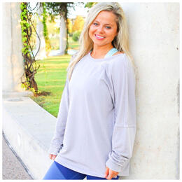 Jadelynn Brooke Women's So Very Thankful Longsleeve Tie Back Tee