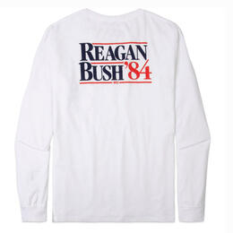 Rowdy Gentleman Men's Reagan Bush 84 Long Sleeve Pocket T Shirt