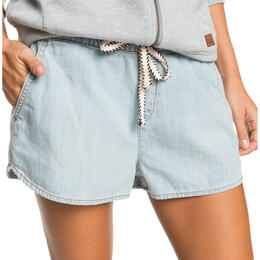 ROXY Women's Back To The Beach Denim Beach Shorts