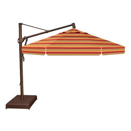 Treasure Garden 11' AKZ Cantilever Umbrella - Astoria Sunset Stripe