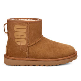UGG Women's Classic Mini Rubber Logo Snow Boots