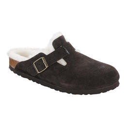 Birkenstock Women's Boston Suede Shearling Lined Casual Slide Shoes