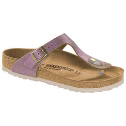 Birkenstock Women's Gizeh Wash Metallic Leather Sandals