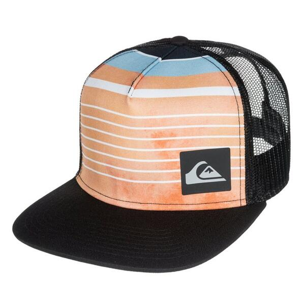 Quiksilver Men's Vertical Printed Trucker Hat