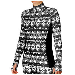 Hot Chillys Women's Micro-Elite Chamois Print Zip-T