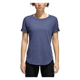 c095a3f5112a0 Adidas Women s Performer Trend Short Sleeve Training Shirt Noble Indigo