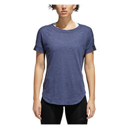 Adidas Women's Performer Trend Short Sleeve Training Shirt, Noble Indigo