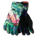 Obermeyer Kid's Cornice Insulated Ski Gloves Fractal Floral