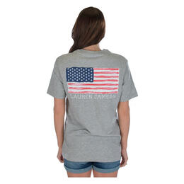 Lauren James Women's American Magnolia Flag T Shirt