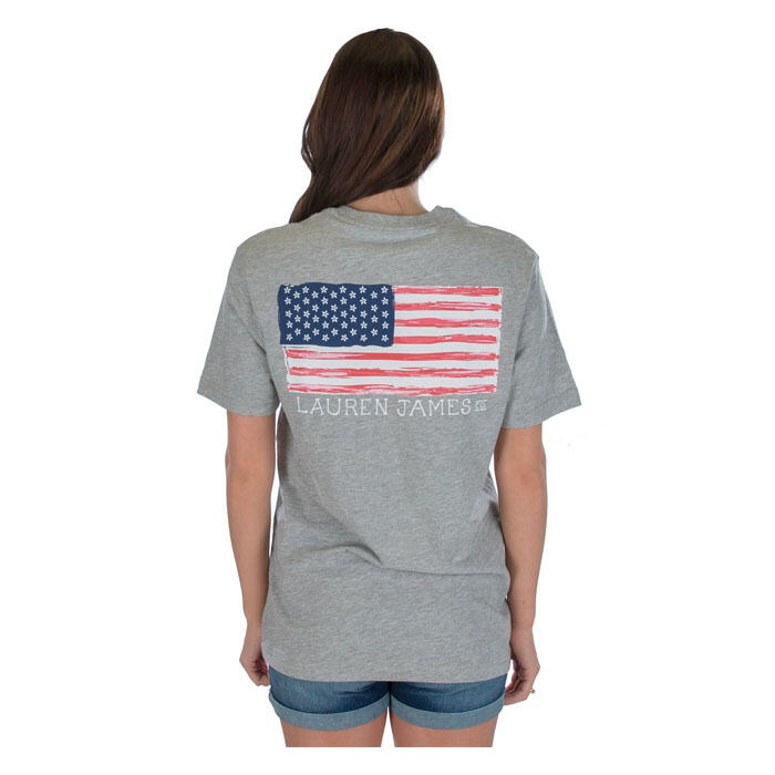 Lauren James Women's American Magnolia Flag