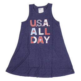 Jadelynn Brooke Women's USA All Day Tank Dress