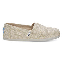 Toms Women's Alpargata Casual Shoes Natural Daisy