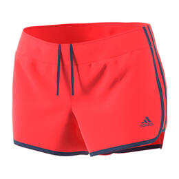 Adidas Women's M10 Icon Woven Running Shorts Real Coral