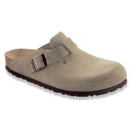 Birkenstock Men's Boston Soft Footbed Suede Clogs Taupe