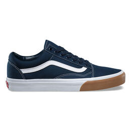 Vans Men's Gum Bumper Old Skool Shoes Dress Blues