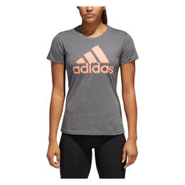 Adidas Women's Badge Of Sport Classic Short Sleeve T Shirt Dark Grey
