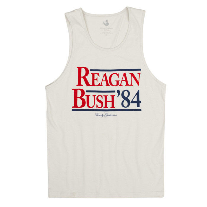 Rowdy Gentleman Men S Reagan Bush 84 Tank Top Sun Amp Ski