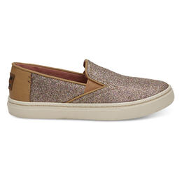 Toms Girl's Luca Casual Shoes Gold Iridescent Glimmer