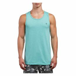 Volcom Men's Solid Turquoise Heather Tank