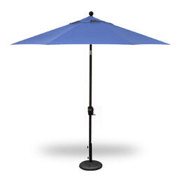 Treasure Garden 9' Push Button Tilt Umbrella - Black with Sky