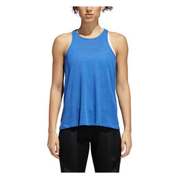 Adidas Women's Performance Open Back Tank, Hi-Res Blue