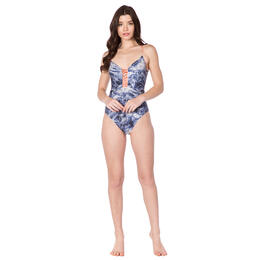 Lucky Brand Women's Crushed Waves 1pc Swimsuit