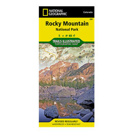 National Geographic Rocky Mountain National Park Trails Illustrated Topographical Map