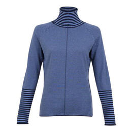 Krimson Klover Women's Striped Skye Turtleneck Sweater