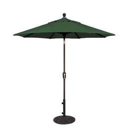 Treasure Garden 7.5' Push Button Tilt Aluminum Shade Umbrella Green