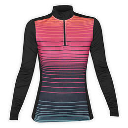 Hot Chillys Women's MTF4000 Print Baselayer Zip-T Top