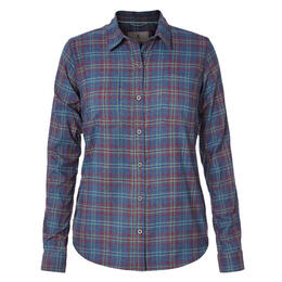 Royal Robbins Women's Performance Plaid Flannel Long Sleeve Shirt