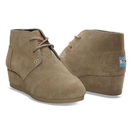 Toms Girl's Desert Wedge Bootie