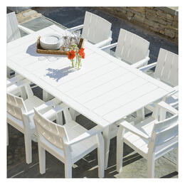 Seaside Casual MAD 7-Piece Dining Set with Arm Chairs