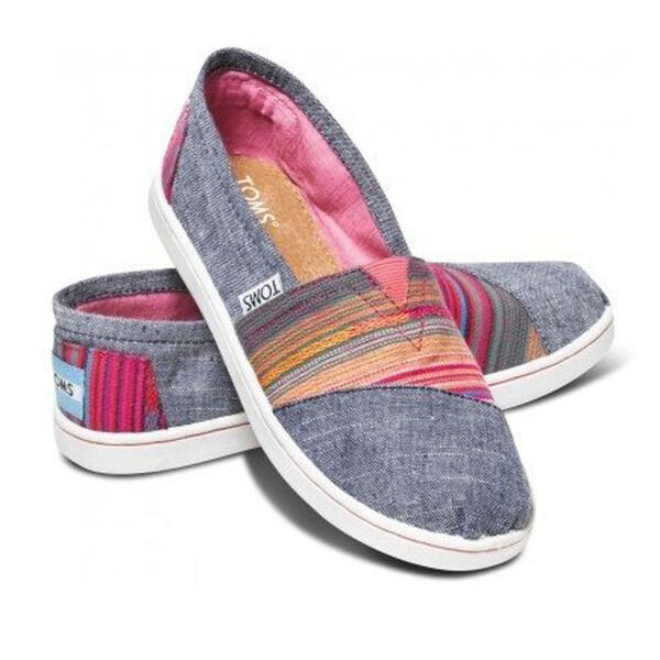 Toms Youth Classic Grey Serape Casual Shoes