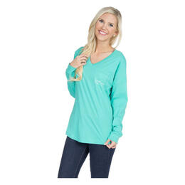 Lauren James Women's V-neck Logo Long Sleeve Jersey