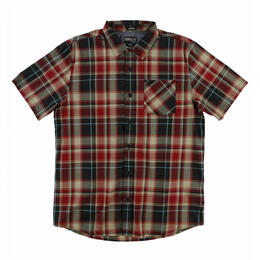 O'Neill Men's Plaid Short Sleeve Button Up Shirt