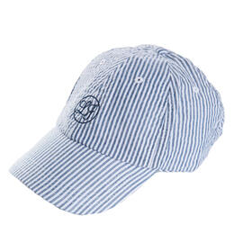 Lauren James Women's Seersucker Baseball Hat