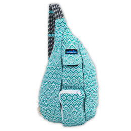 Kavu Women's Rope Bag Backpack Teal Quilt