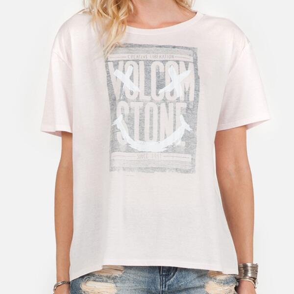 Volcom Jr. Girl's Raise Hell Basic Short Sleeve T-shirt