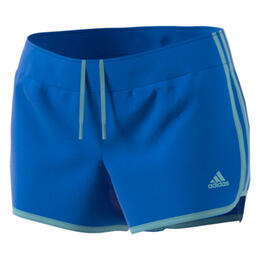 Adidas Women's M10 Icon Woven Running Shorts Hi-Res Blue