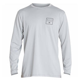 Billabong Men's All Day Mesh Long Sleeve Rashguard Silver